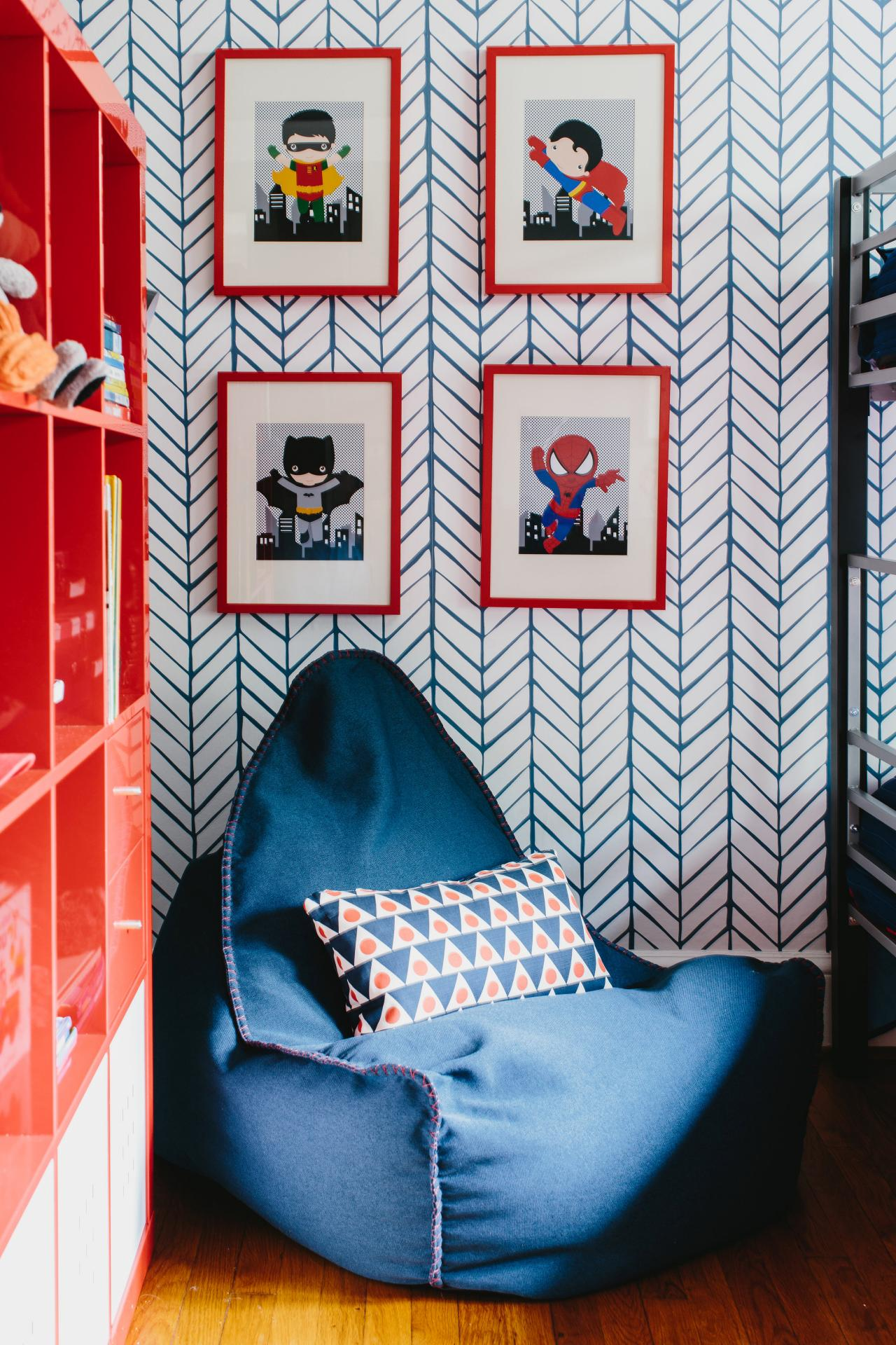 Colorful Pattern Filled Shared Boys Bedroom 2014 HGTV 1280x1920