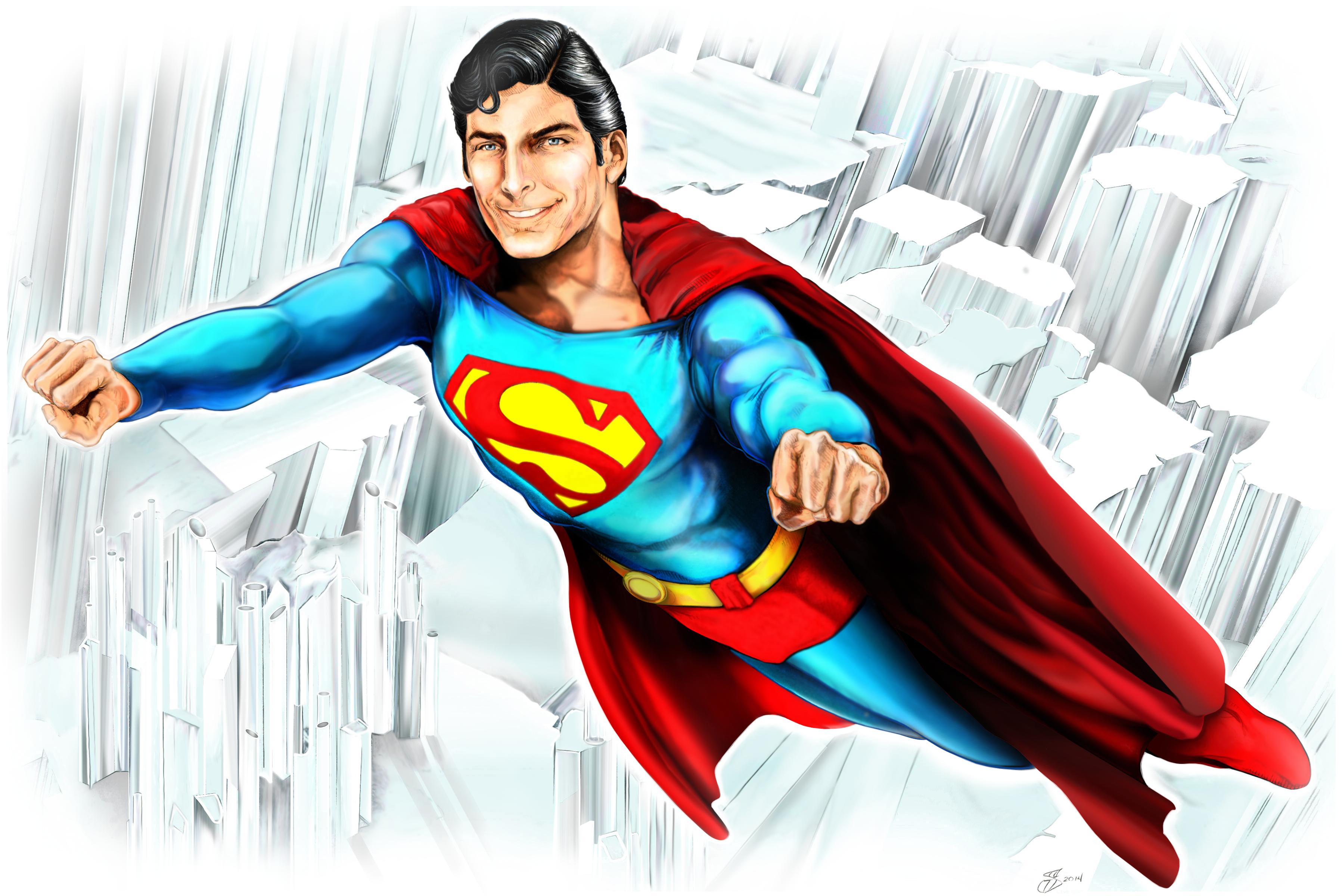 Christopher Reeve Superman digital painting by SammyG23 3594x2400