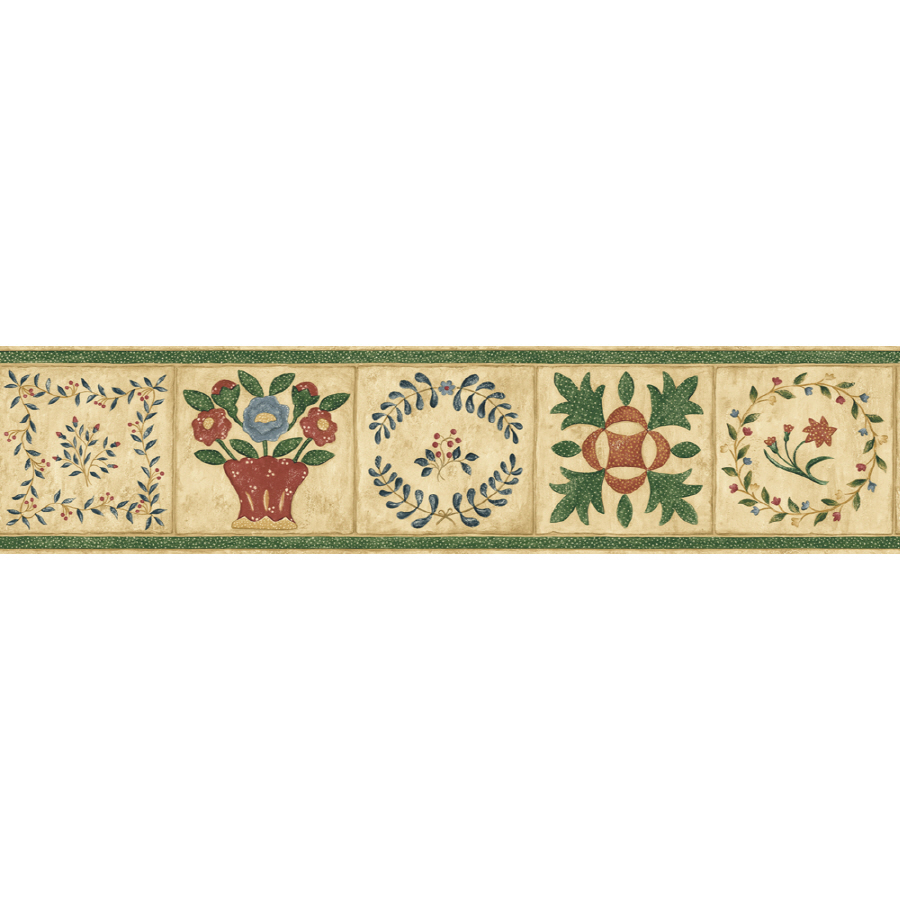 IMPERIAL 6 14 Country Quilt Prepasted Wallpaper Border at Lowescom 900x900