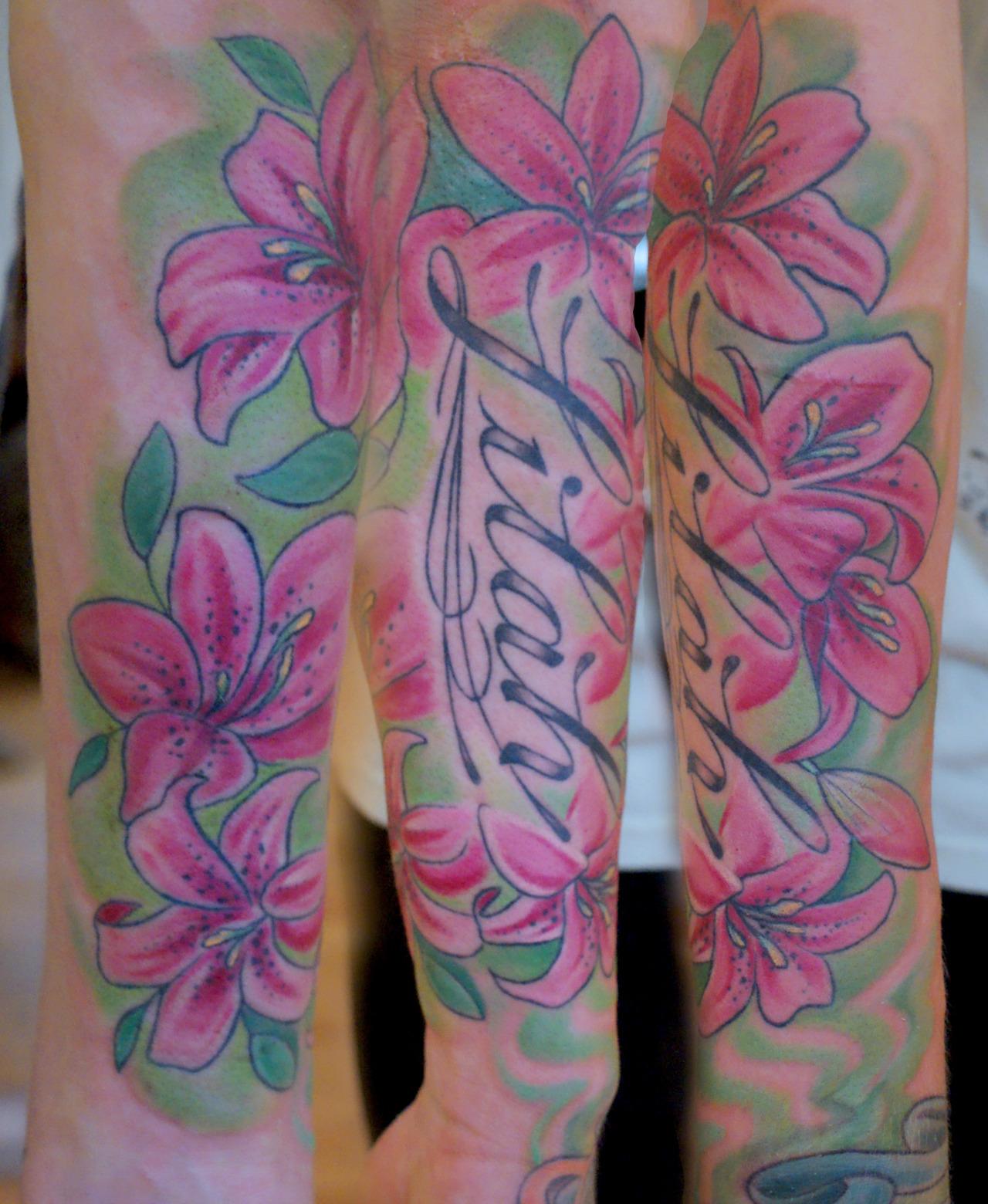 Stargazer Lily Tattoo Is Wallpaper PicsWallpapercom 1280x1560