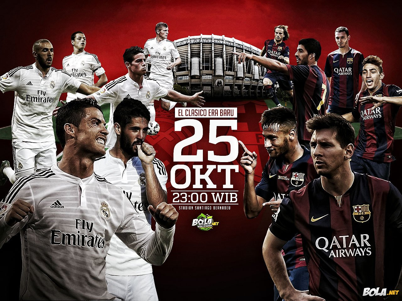 Bolanet Download Wallpaper   Real Madrid vs Barcelona 1280x960
