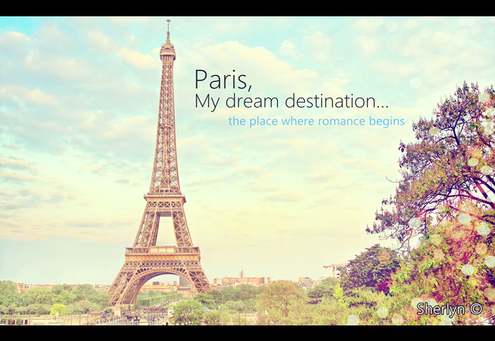 Vintage Eiffel Tower Wallpaper Paris The Place Where Romance Begins Je Taime 700x482