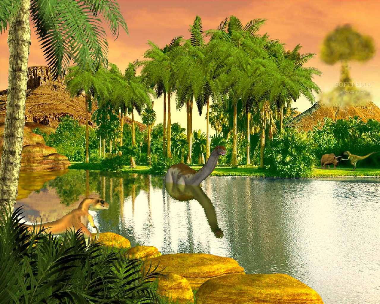 Dinosaur Valley   Animated Wallpaper   This is the image that will be 1280x1024