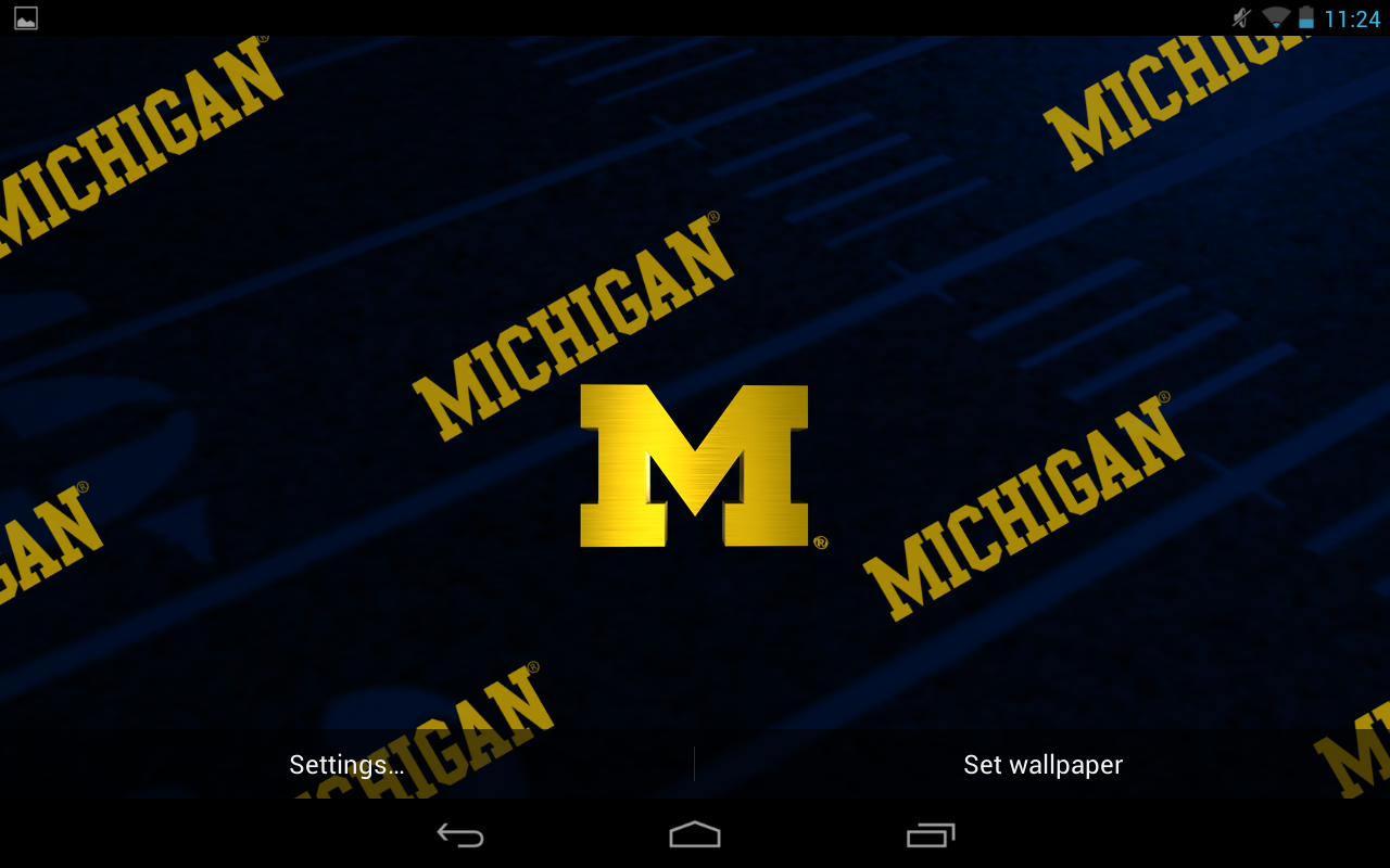Officially licensed Michigan Wolverines Live Wallpaper with animated 1280x800