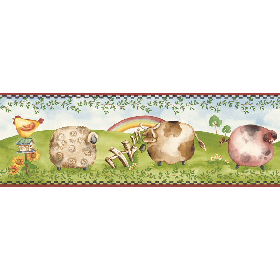 Sunworthy 6 78 Novelty Farm Prepasted Wallpaper Border at Lowescom 900x900