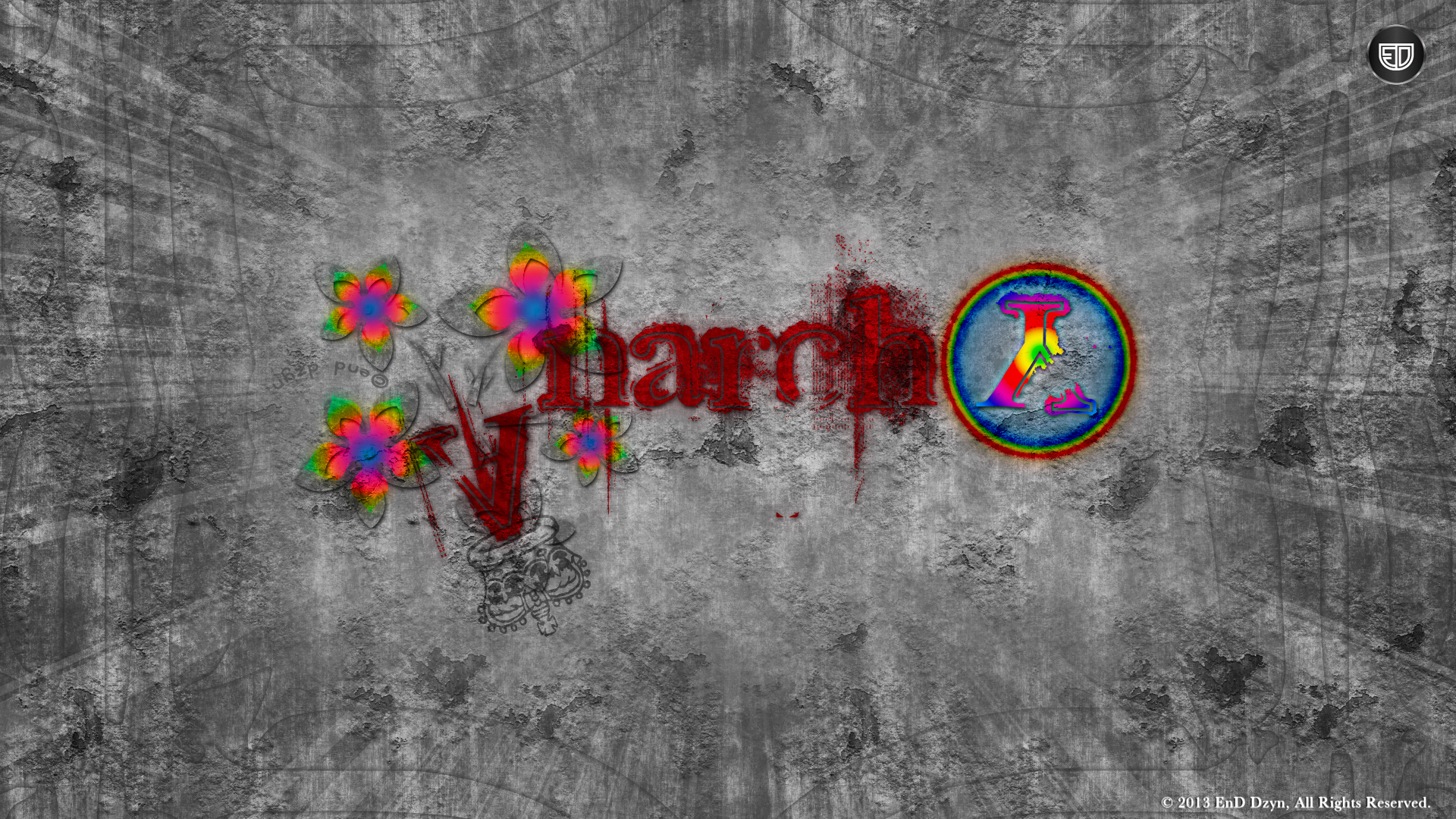 Anarchy Graffiti Abstract HD Wallpaper Backgrounds   EnD Dzyn 1920x1080