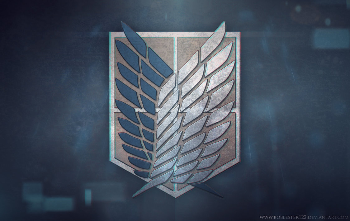 no Kyojin Survey Corps Badge Wallpaper by Boblester122 1124x710