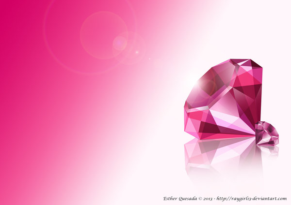 Diamond Wallpaper in Pink by Raygirl13 600x424
