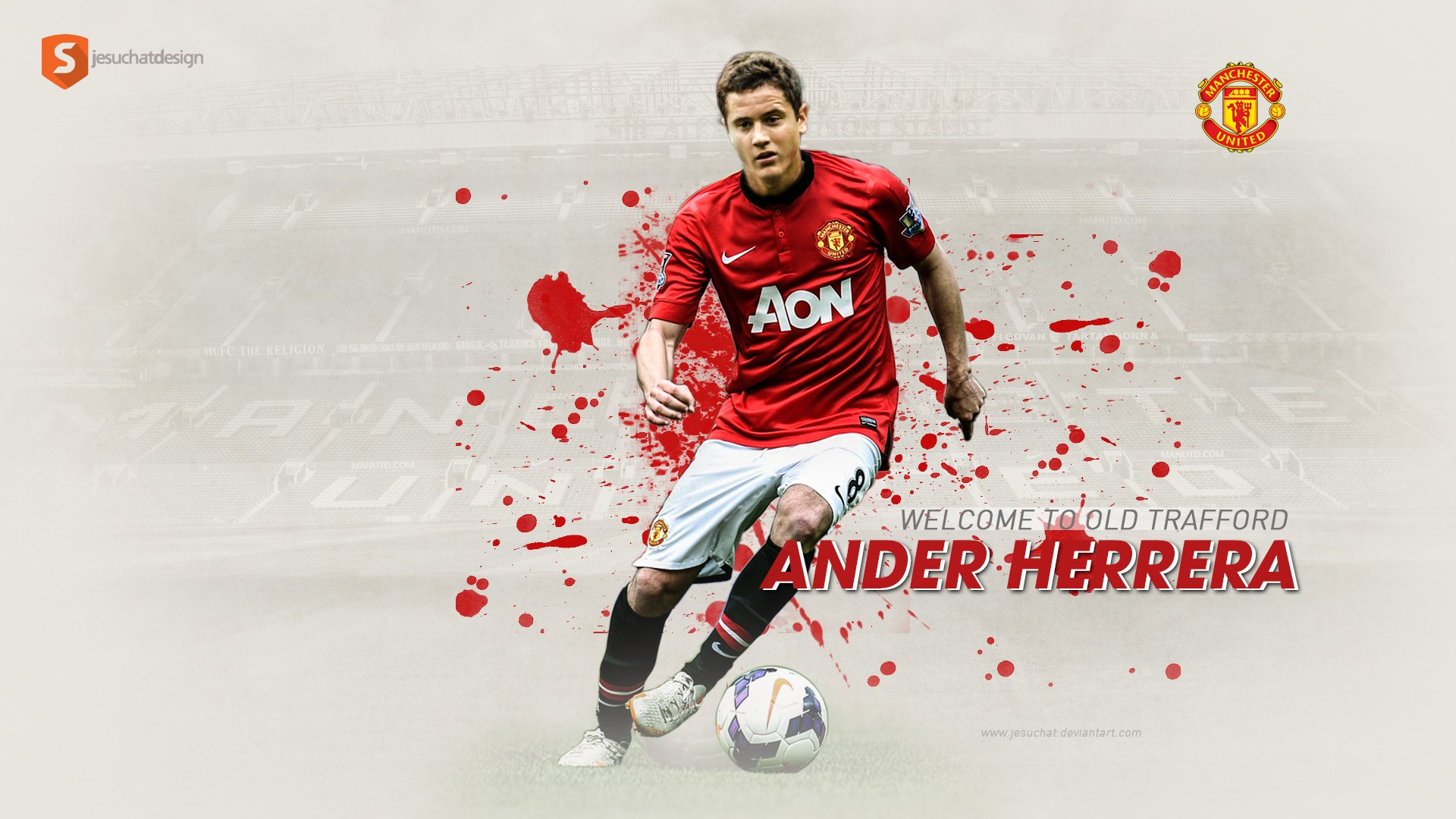 Ander Herrera Wallpaper   Manchester United by Jesuchat on 1920x1080