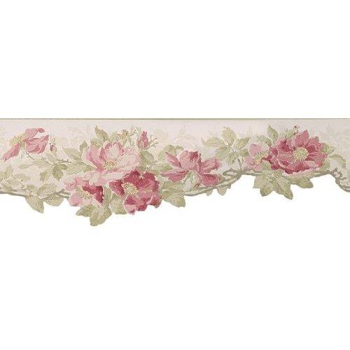 Waverly wallpaper border Pattern Name Heirloom Poppy Border Rose 500x500