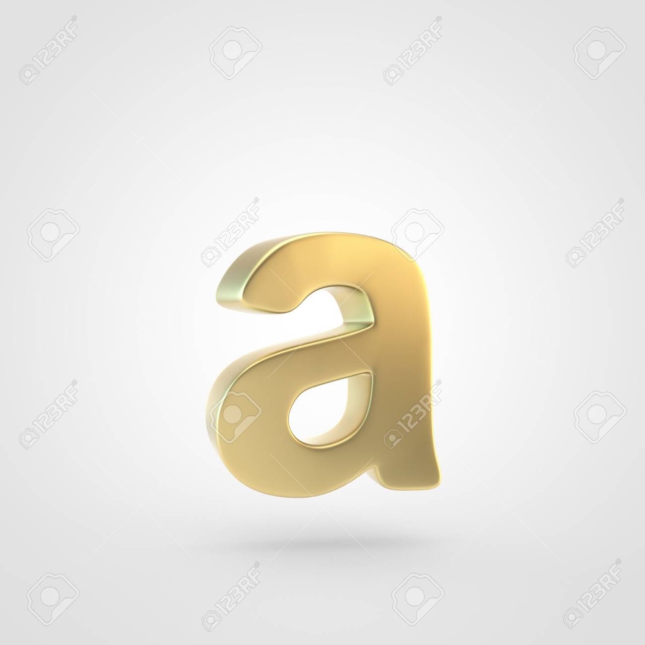 Golden Letter A Lowercase 3D Rendering Of Matted Golden Font 1300x1300