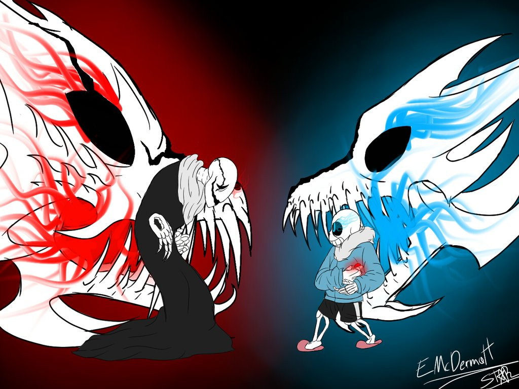 Free Download Gaster Vs Sans Undertale By Stardragoness6456