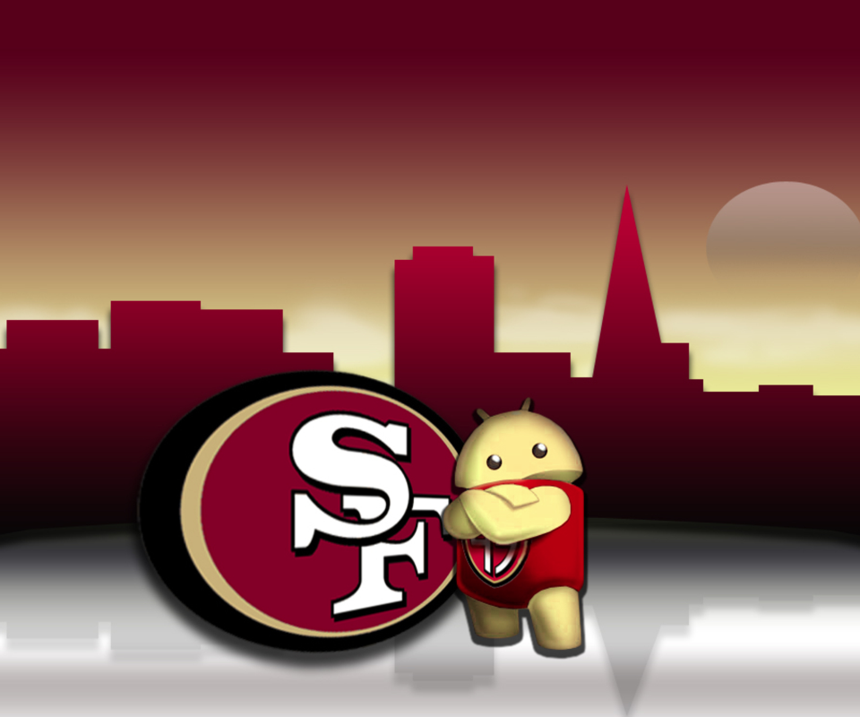 49ers phone wallpaper wallpapersafari san fransico 49ers android galaxy s2 wallpaper 960x800 voltagebd Images