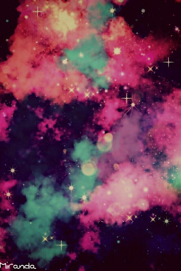 blue, cute, galaxy, pink, pretty, purple, sparkles, wallpaper - image ...