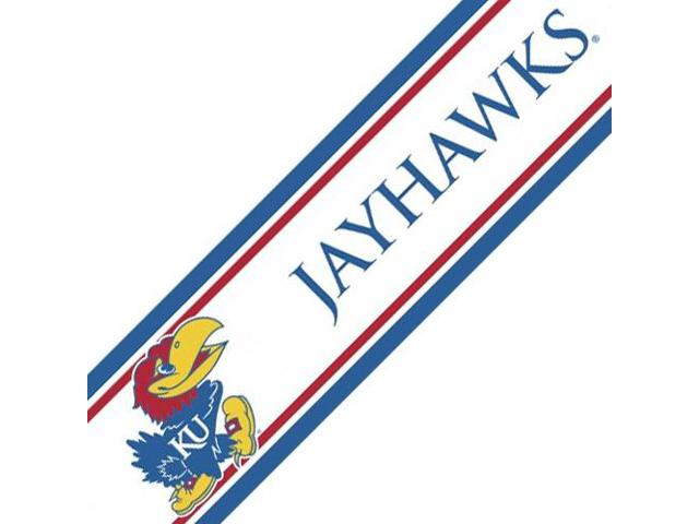NCAA Kansas Jayhawks Prepasted Wallpaper Border Accent Roll   Newegg 640x480