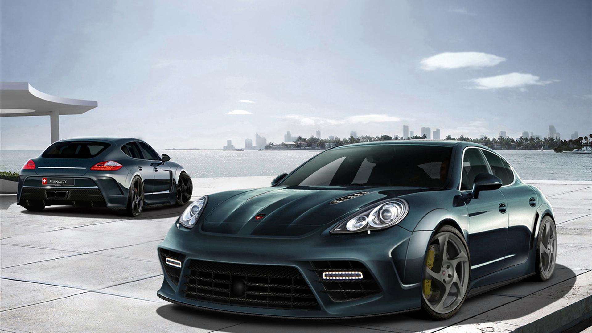 Porsche Panamera Black Sports Car Full HD Desktop Wallpapers 1080p 1920x1080