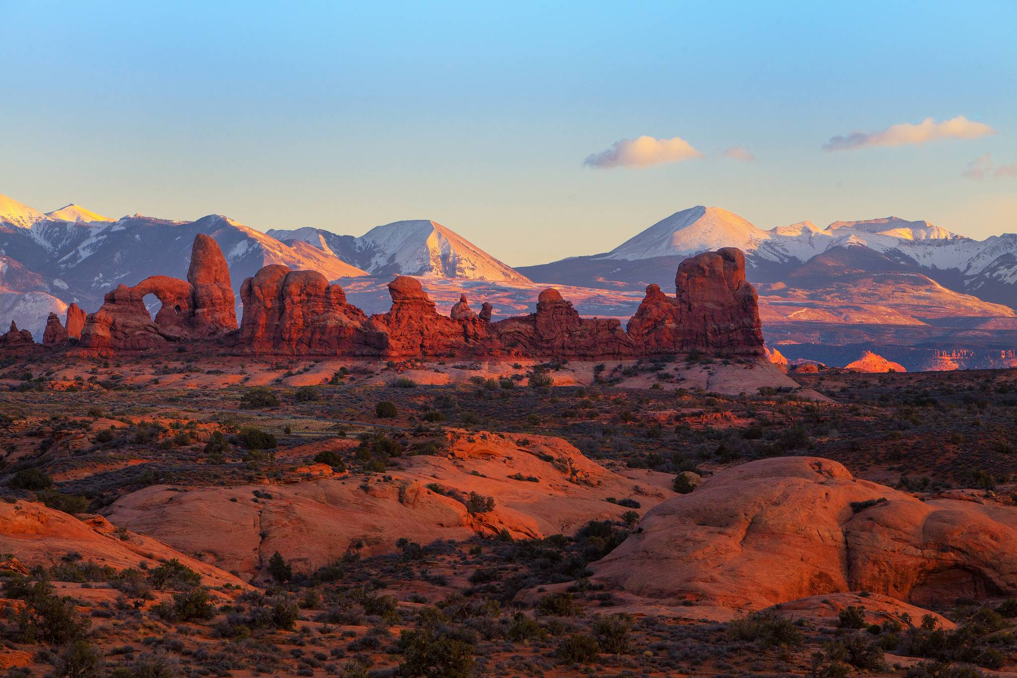 Download wallpaper Utah Arches National Park tower arch 2048x1366