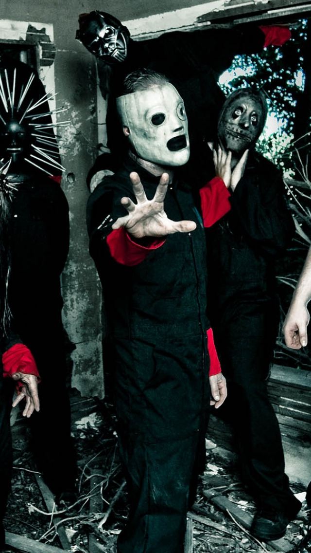 Wallpaper 640x1136 slipknot masks image hands costumes iPhone 640x1136