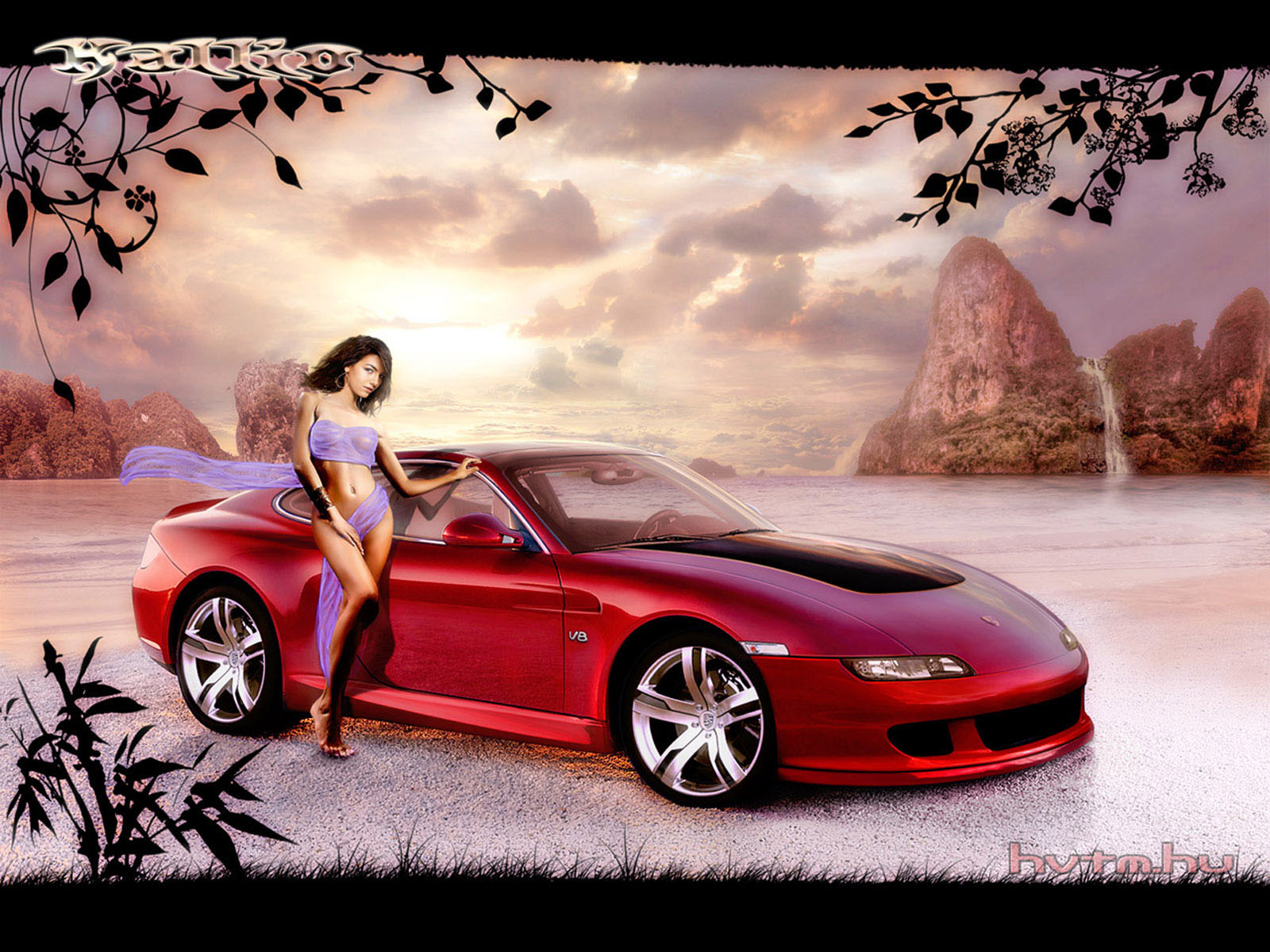 Ever Best Car Girl Wallpapers 1600x1200