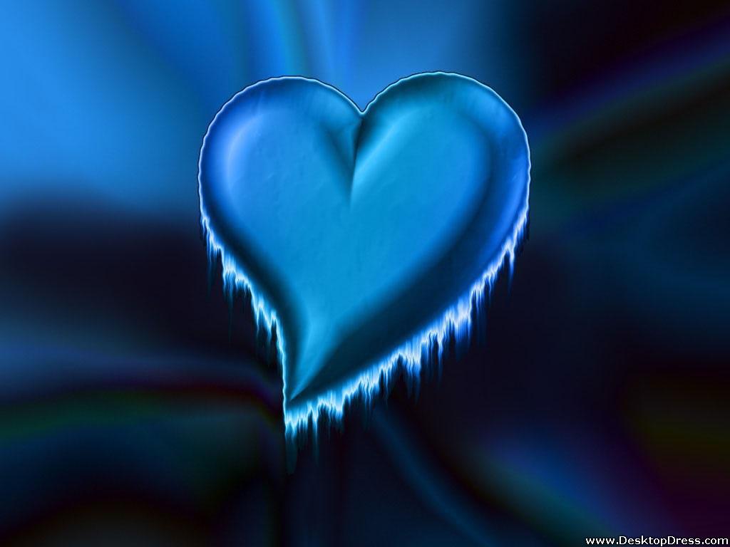 blue heart wallpaper wallpapersafari
