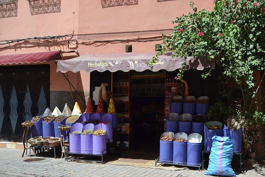 HD wallpaper morocco marrakesh herboristerie spices 910x607