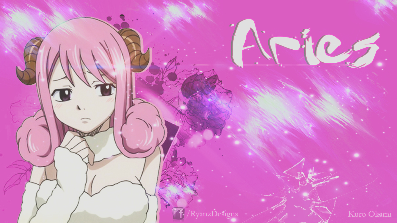 Wallpaper Aries by KuroOkamiDesigns on deviantART 1366x768