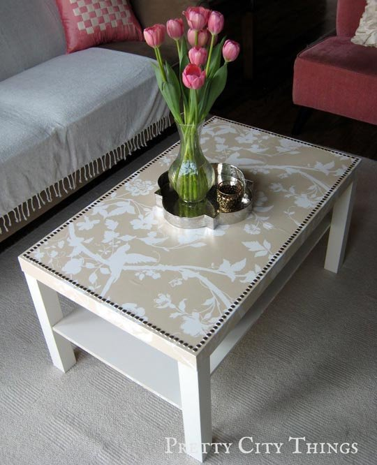 apply mod podge and spray shellac over the wallpaper as a protective 540x666