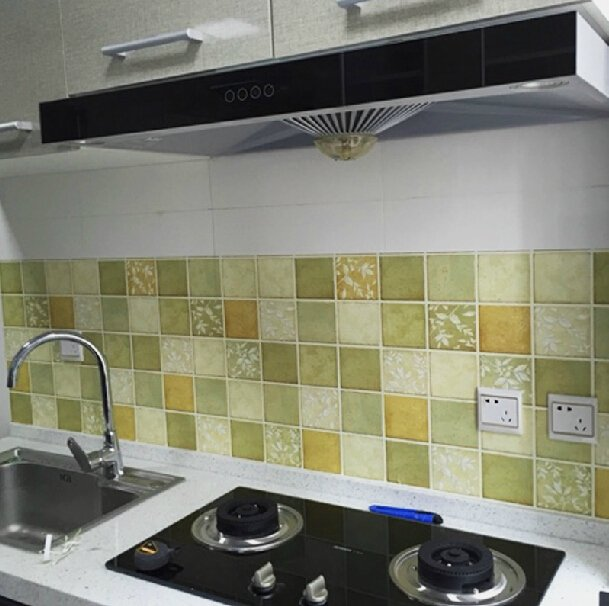 Wallpaper Tiles For Kitchen: Mosaic Tile Wallpaper For Kitchen