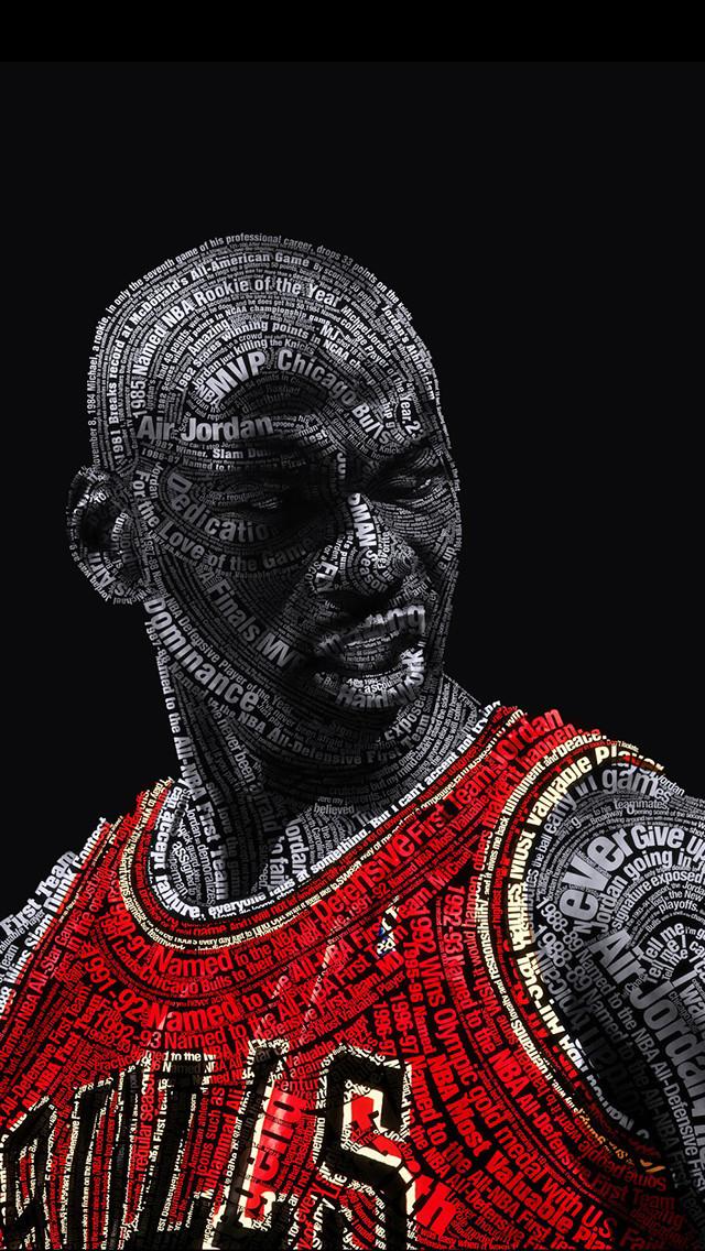 Michael Jordan Typography 640x1136