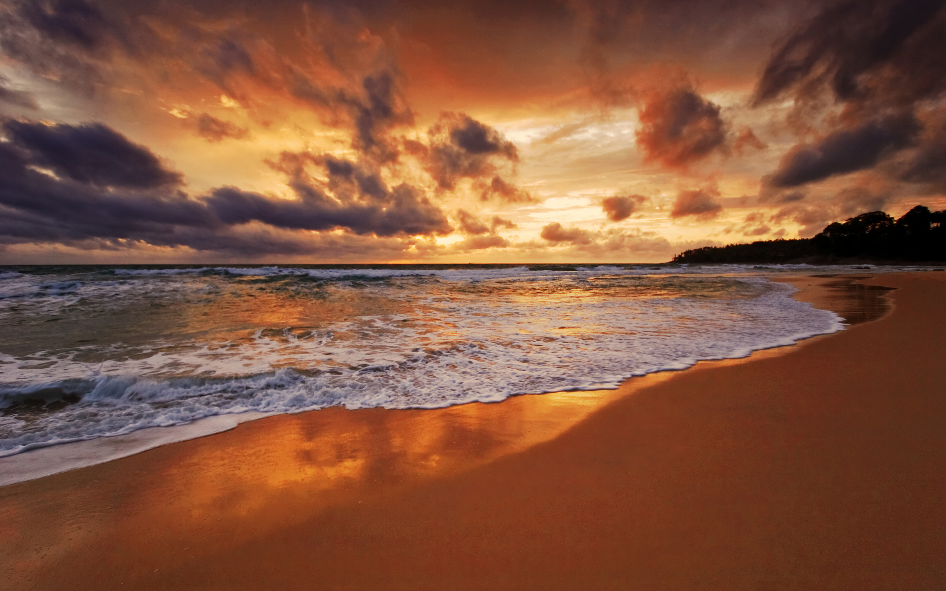 Beach Sunset 1920x1200 #2314 HD Wallpaper Res: 1920x1200 | DesktopAS ...