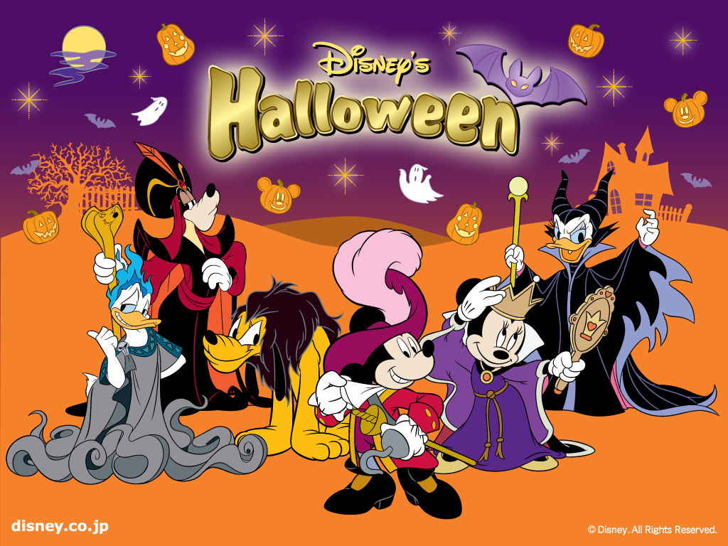 backgrounds and screensavers3d halloween wallpaper disney 1024x768