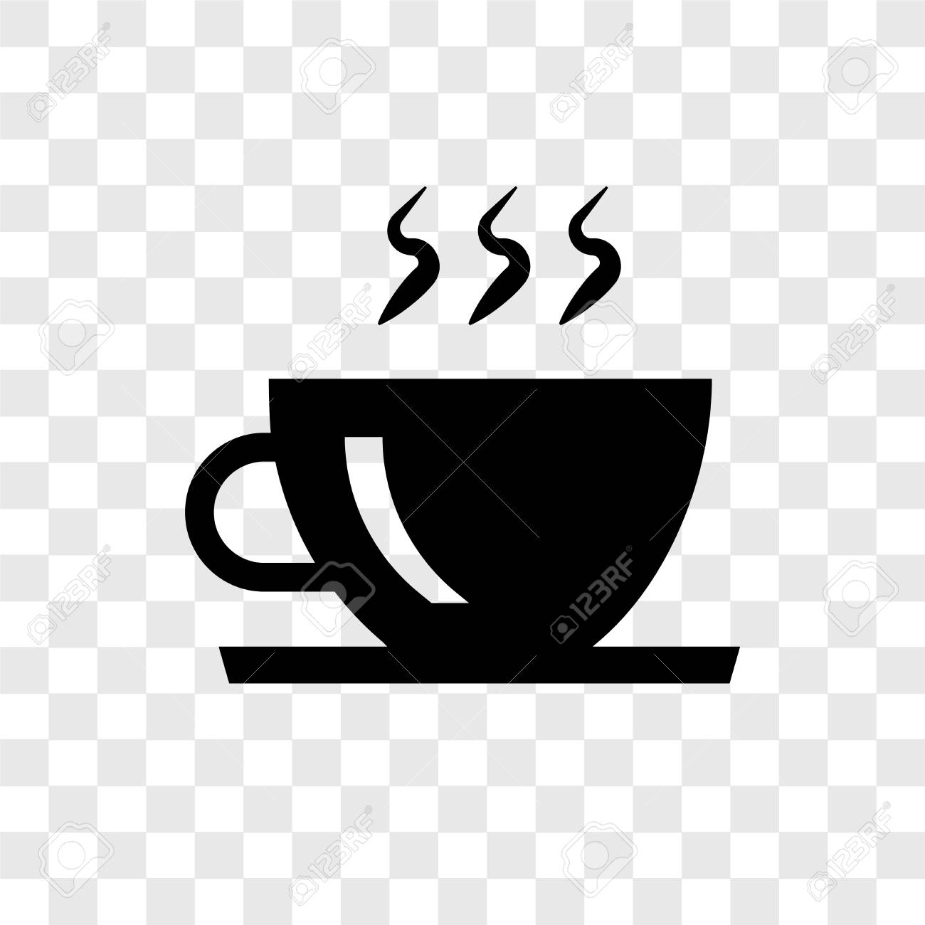 Coffee Cup Vector Icon Isolated On Transparent Background Coffee 1300x1300