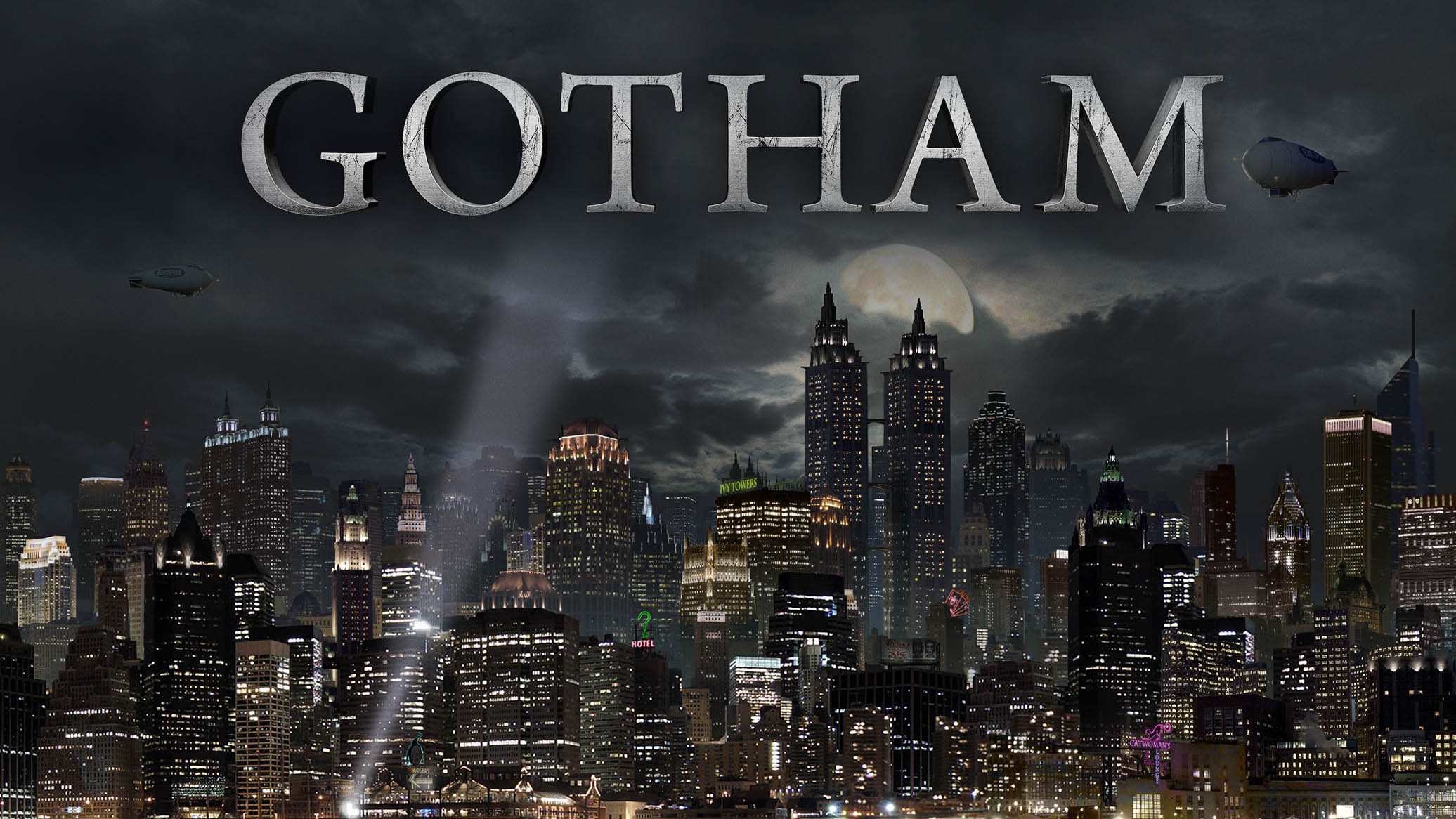 Gotham city hd wallpaper wallpapersafari for In the city wallpaper