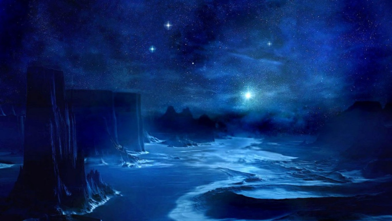 blue night sky background - photo #20