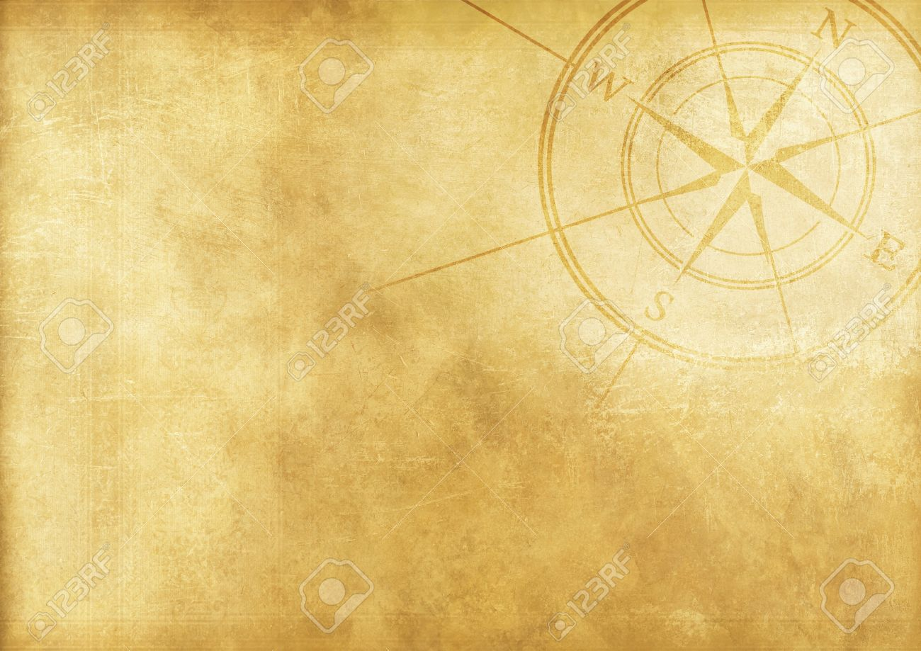 Vintage Journey Background With Compass Rose Aged Paper 1300x919