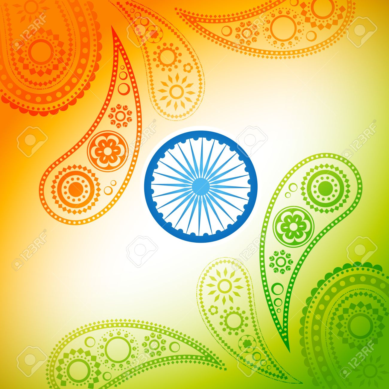 Beautiful Stylish Indian Flag Background Royalty Cliparts 1300x1300