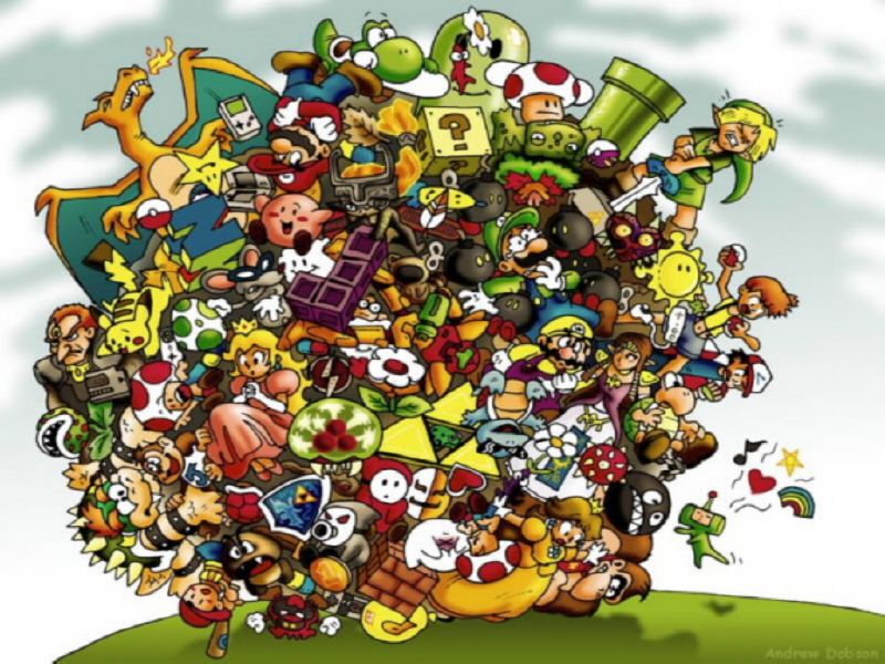 Nintendo Characters Wallpaper Nintendo Wallpapers 800x600