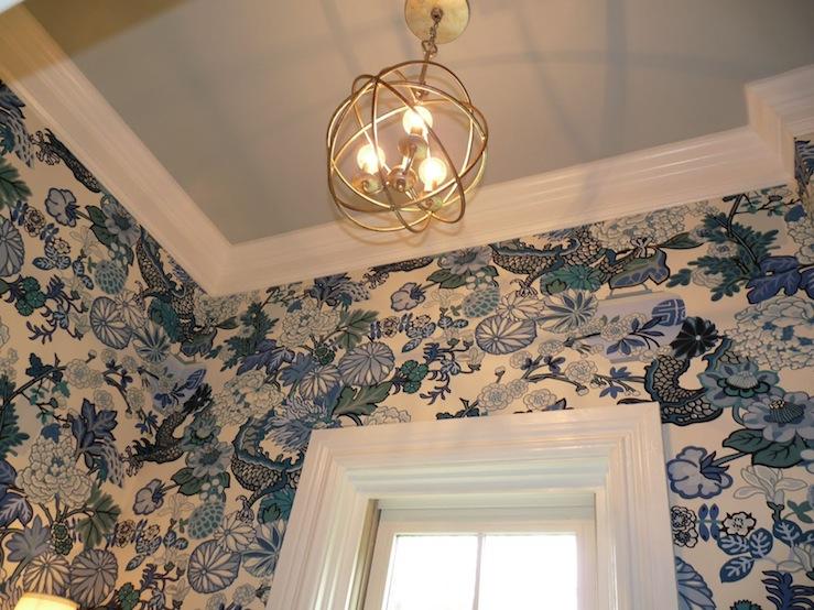 Chiang mai Dragon Wallpaper Transitional bathroom Hazardous Design 739x554