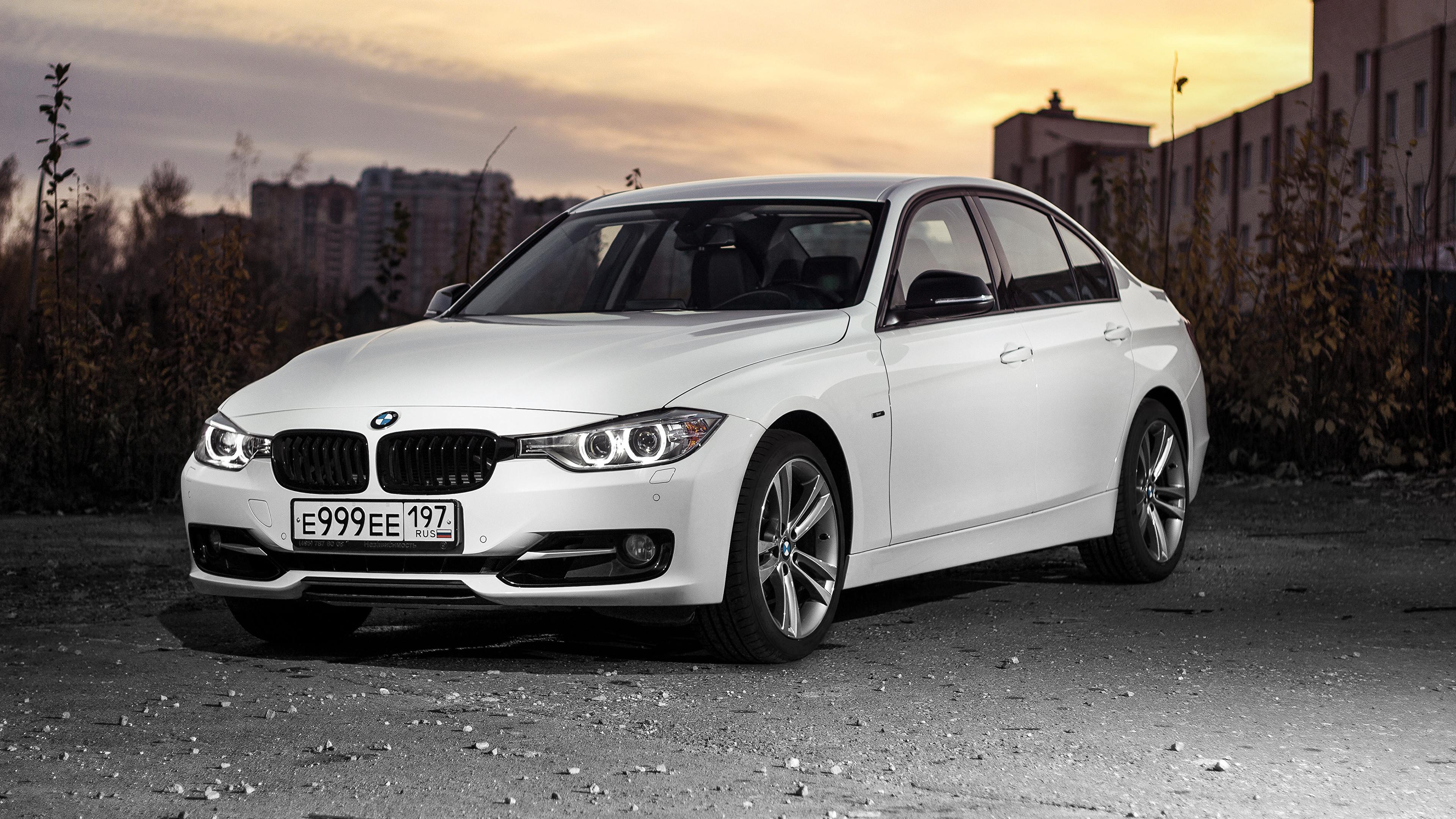 Images BMW 3 Series F30 Sedan White auto 3840x2160 3840x2160