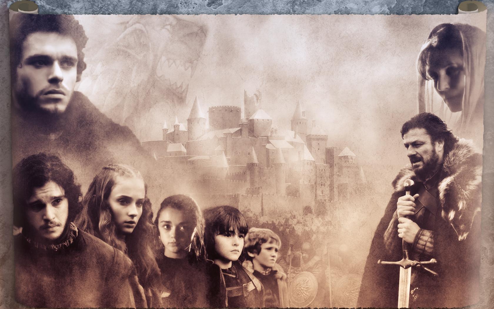 Stark Family   Game of Thrones Wallpaper 22255564 1680x1050