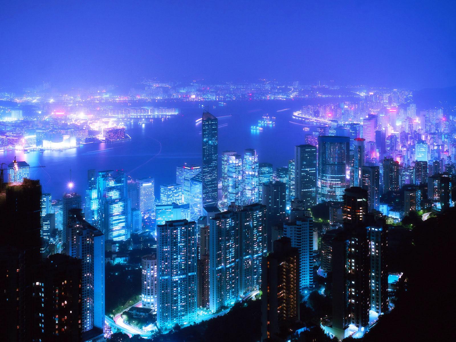 Desktop Fun Cities at Night Wallpaper Collection Series 1 1600x1200