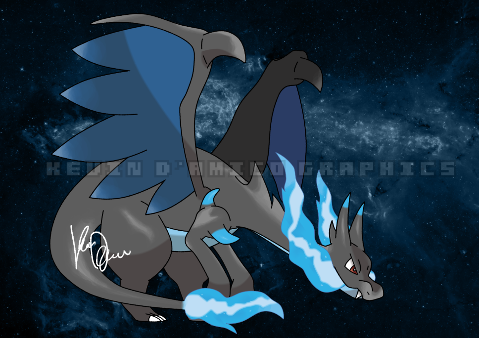 Mega Charizard X   Pokemon X Y by kevindamicographics 968x684