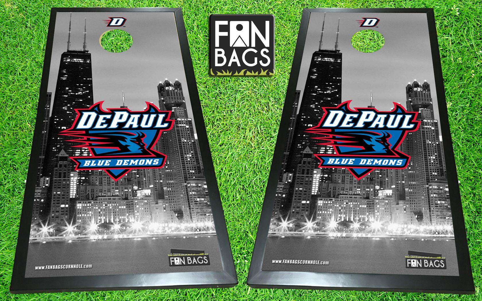 DePaul University cornhole boards Direct print HD images 1680x1050