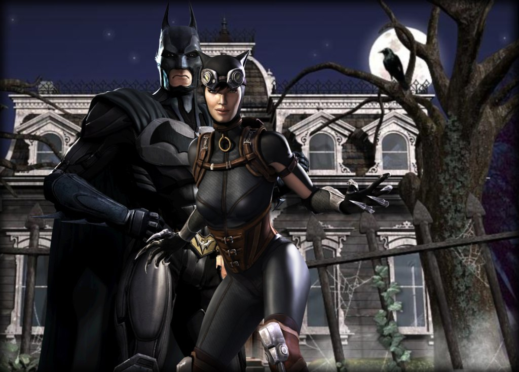 IGaU Batman and Catwoman wallpaper by EvilMaybe 1024x734