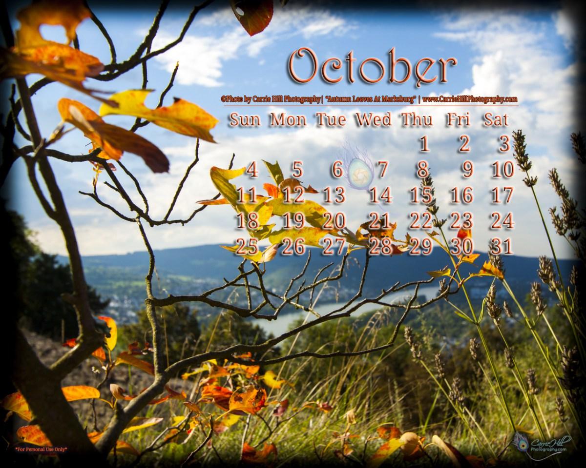 downloadable October 2015 Desktop Wallpaper Calendar 1200x960