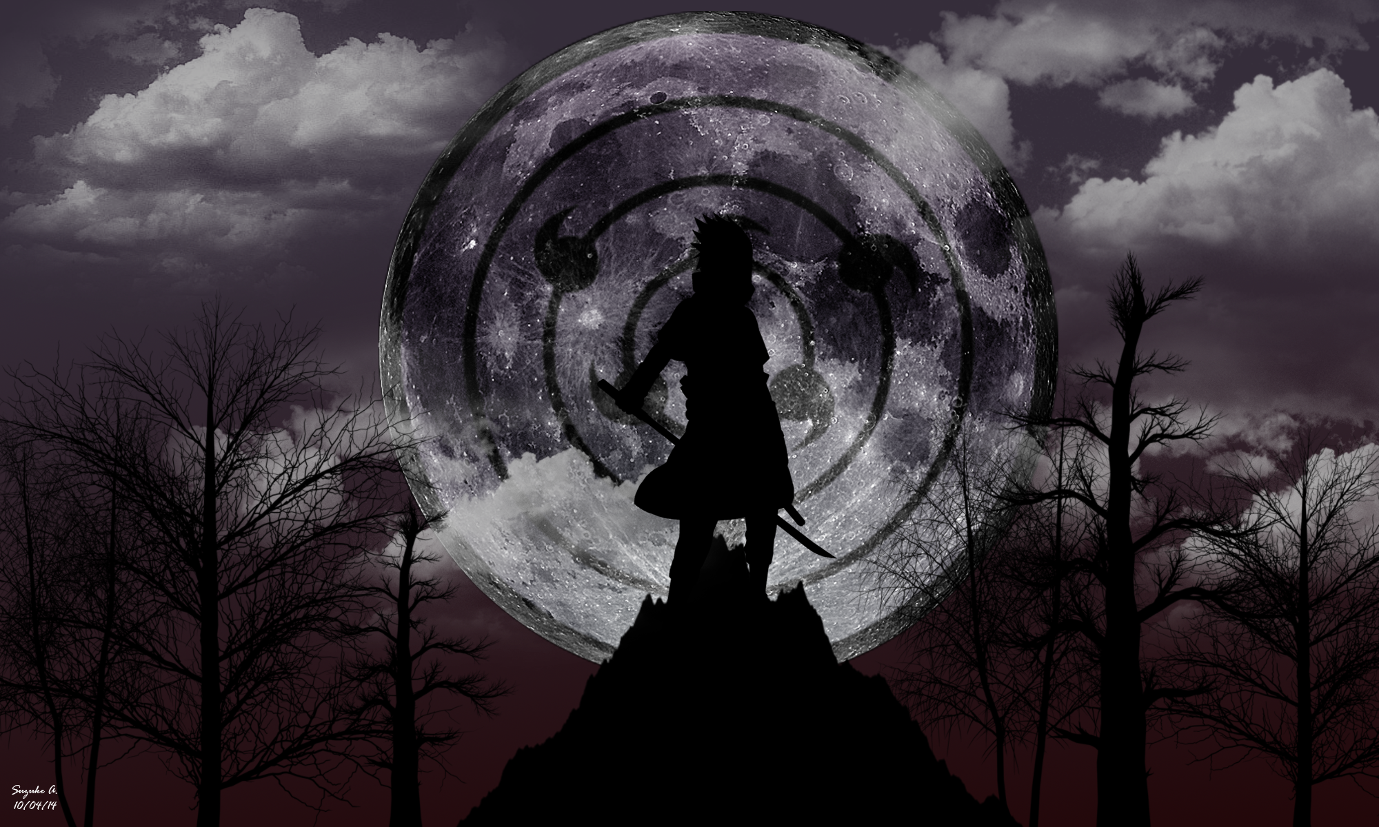 Sasuke Uchiha Rinnegan [Moon Eye] Wallpaper by SuzukeAmaterasu on 2000x1200
