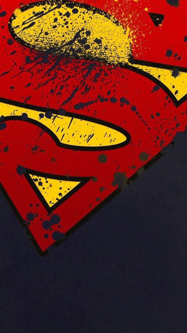 Grunge Superman Logo Wallpaper   iPhone Wallpapers 640x1136