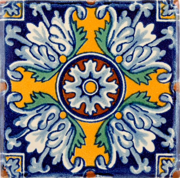 Mexican Tile Pattern Malibu ceramic tile 600x593