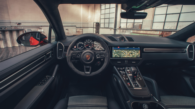 Porsche Cayenne Turbo Coupe 2019 4K Interior Wallpaper HD Car 6000x3375