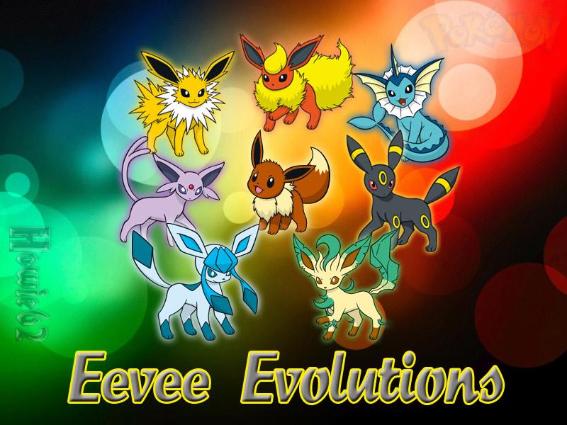 Eevee Evolutions Wallpaper by Howie62 800x600